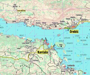 Hotová mapa včetně souřadnic