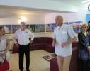 Rada českého velvyslanectví v Záhřebu Bohuslav Zavadil a David Vávra při otevření výstavy svých obrazů v Daruvaru - foto Vlatka Daněk