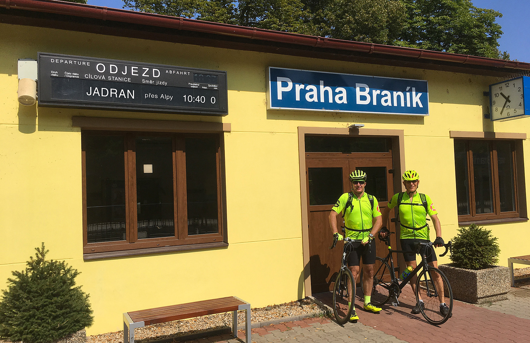 Zdeněk a Petr vypraveni ve čtvrtek 18/7 z Braníka bez zpoždění.