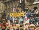 Generální stávka 27. listopadu u Národního muzea.