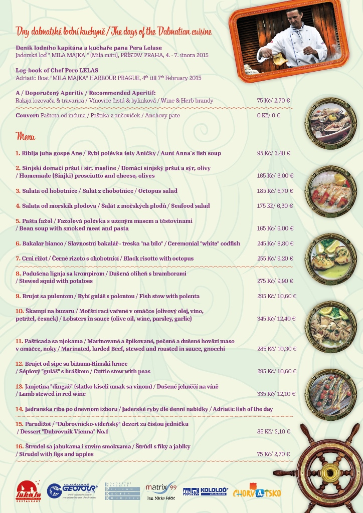 Luka Lu Dalmacie menu